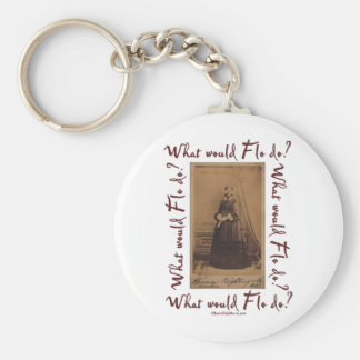 What would Flo Do? Florence Nightingale Basic Round Button Key Ring