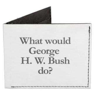 what would george h w bush do