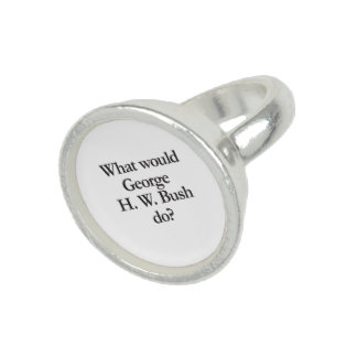 what would george h w bush do photo rings