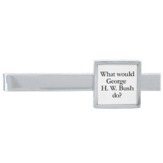 what would george h w bush do silver finish tie clip