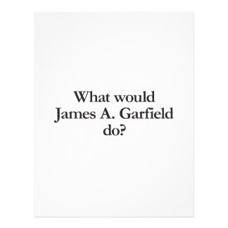 what would james a garfield do personalized flyer