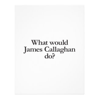 what would james callaghan do flyer design