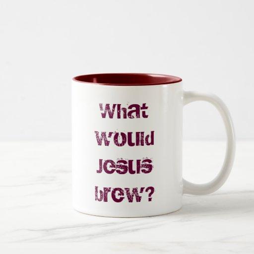 What would Jesus brew? dark red Mugs