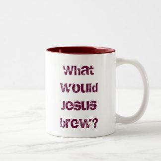 What would Jesus brew dark red Mugs