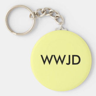 What Would Jesus Do Basic Round Button Key Ring