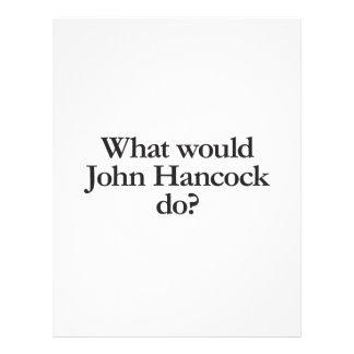 what would john hancock do flyer design