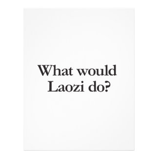 what would laozi do full color flyer