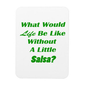 what would life be like without a little salsa grn vinyl magnets