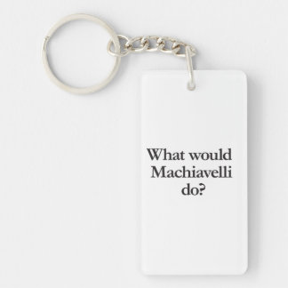 what would machiavelli do rectangular acrylic keychains