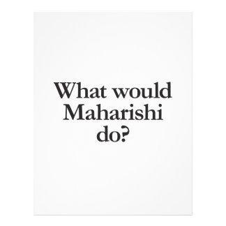 what would maharishi do flyers