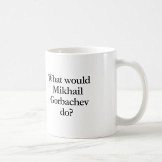 what would mihail gorbachev do basic white mug