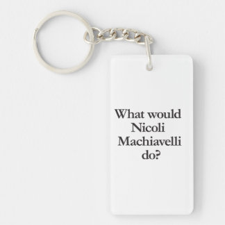 what would nicoli machiavelli do rectangle acrylic key chains