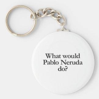 what would pablo neruda do basic round button key ring
