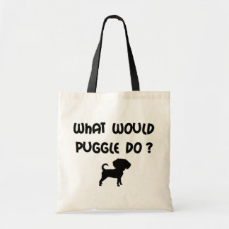 What Would Puggle Do? Canvas Bag