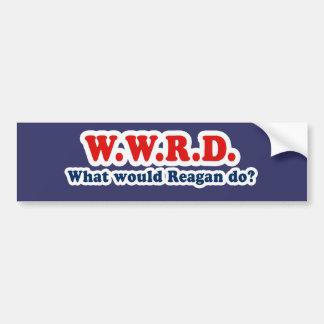What would Reagan do Bumper Sticker