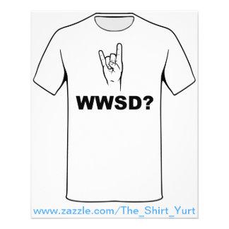 What Would Satan Do?  WWSD? 11.5 Cm X 14 Cm Flyer