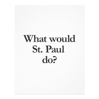 what would st paul do custom flyer