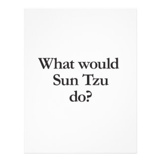 what would sun tzu do personalized flyer