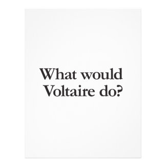 what would voltaire do flyer design