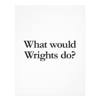 what would wrights do full color flyer
