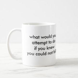 What would you do? basic white mug