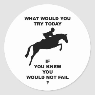 What Would You Do Hunter Jumper Sticker