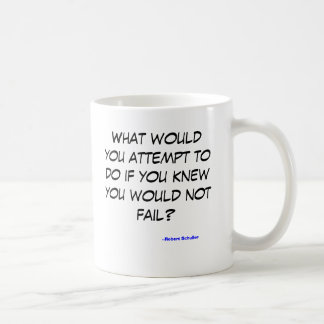 What would you do if you could not fail basic white mug