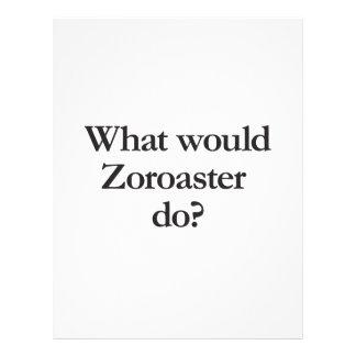 what would zoroaster do custom flyer