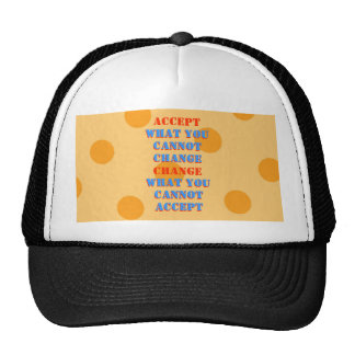 WHAT YOU CANNOT CHANGE   WHAT YOU CANNOT  ACCEPT HATS