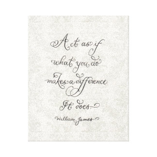What you do Inspirational quote typography Canvas Print