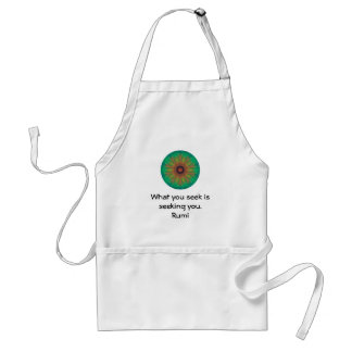 What you seek Rumi Wisdom Attraction Quotation Standard Apron