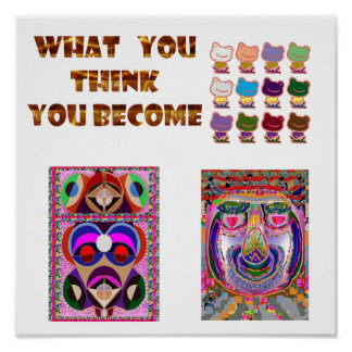 What you THINK  : Frogs, Jester,  Philospher Poster