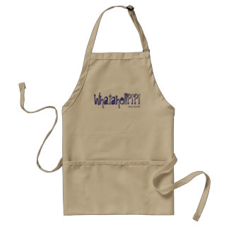 Whatahell Azul Adult Apron