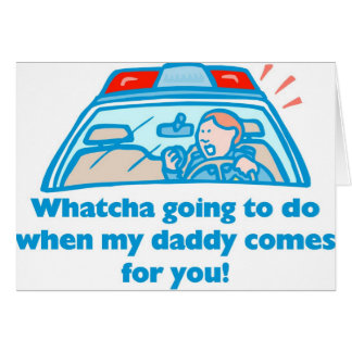Whatcha going to do... greeting card