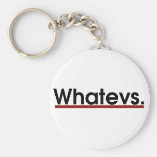 Whatev Key Ring