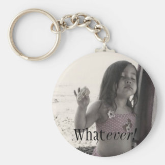 Whatever! Basic Round Button Key Ring