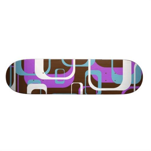 Whatever Cool Geometric Square Shapes Pattern Skate Decks