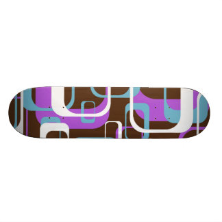 Whatever Cool Geometric Square Shapes Pattern Skateboards