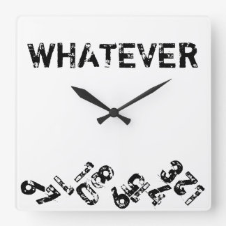 Whatever Falling Numbers Wall Clock