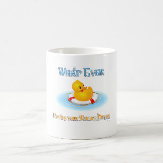 Whatever Floats Your Rubber Duckie Basic White Mug