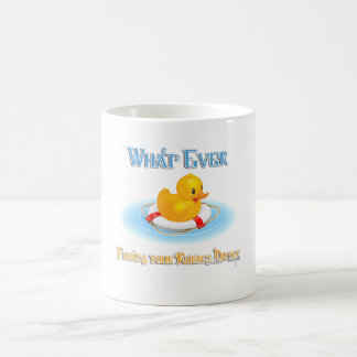 Whatever Floats Your Rubber Ducky Basic White Mug