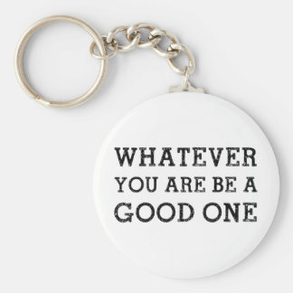 Whatever Good Basic Round Button Key Ring