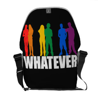 WHATEVER GRAY COURIER BAG