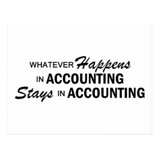 Whatever Happens - Accounting Postcard