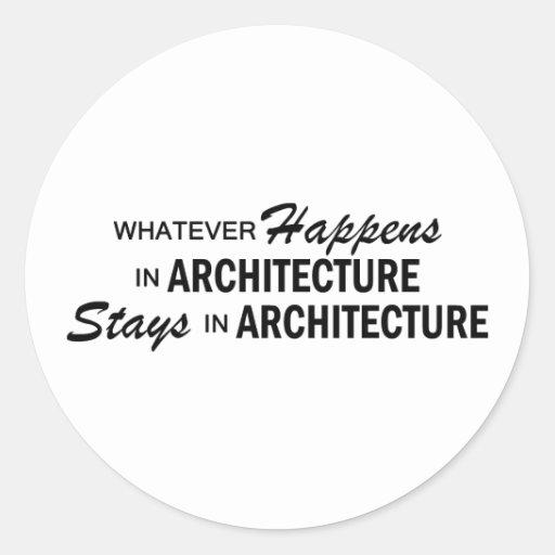 Whatever Happens - Architecture Sticker