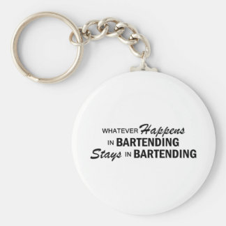 Whatever Happens - Bartending Basic Round Button Key Ring