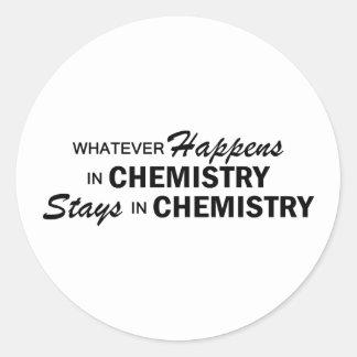 Whatever Happens - Chemistry Round Sticker