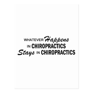 Whatever Happens - Chiropractics Postcard