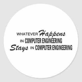 Whatever Happens - Computer Engineering Round Sticker