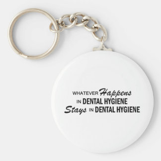 Whatever Happens - Dental Hygiene Basic Round Button Key Ring